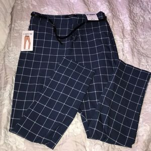 Dark blue checkered pants